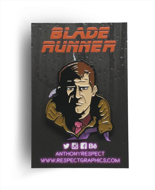 Blade Runner Deckard Classic Edition Soft Enamel Pin By Respect