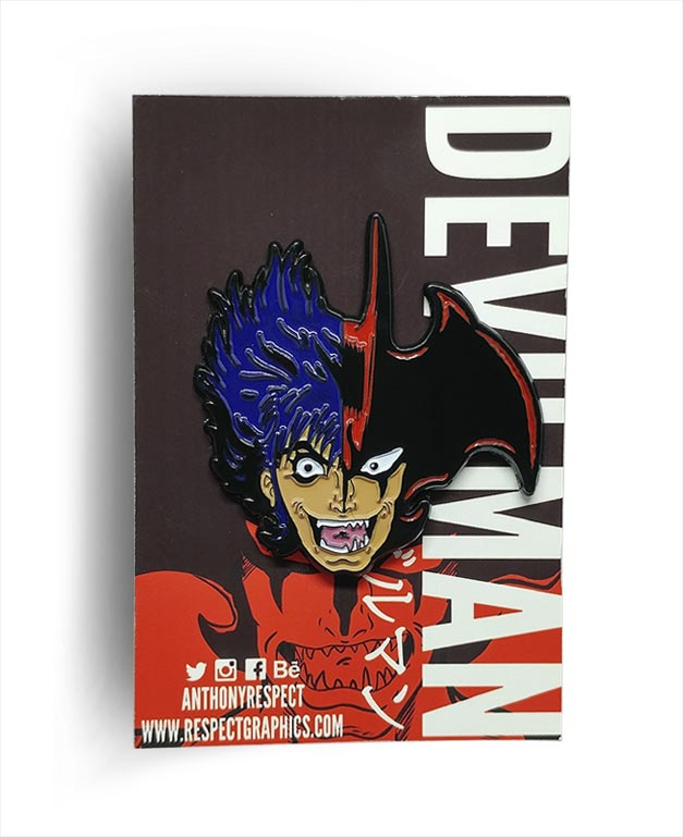Devilman Akira Fudo Transformation Anime Edition 80s Anime Soft Enamel Pin By Respect